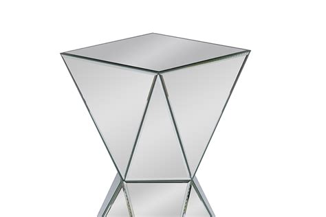 prism table mirror prism side table modern furniture brickell