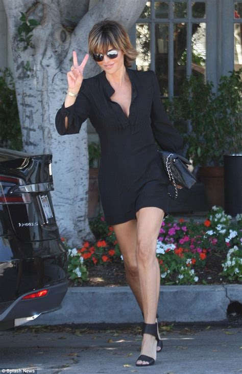 lisa rinna no shirt lisa rinna shows off legs in lbd as she films real