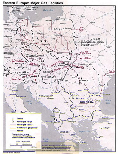 germany map 1980 eastern europe major gas facilities 1980 size