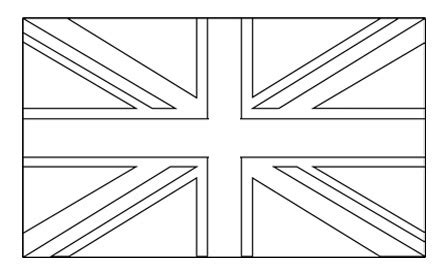 template of union flag to colour best photos of flag template union flag