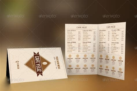 half fold menu template half fold coffee shop menu design by erseldondar graphicriver