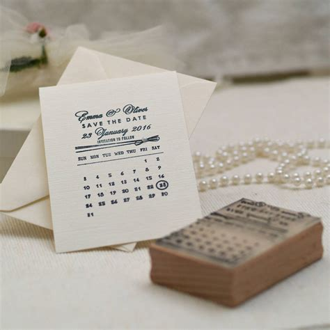 rubber st save the date personalised calendar save the date st by pretty rubber