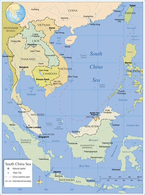 asia sea map political map of south china sea nations project