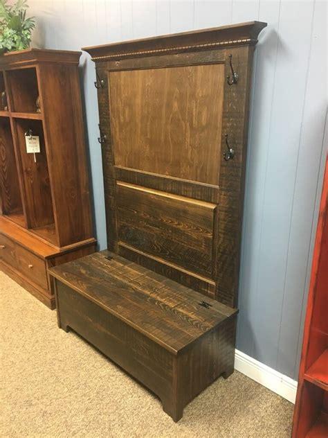 rustic shaker hall tree  storage  baton rouge  stock br   wood furniture
