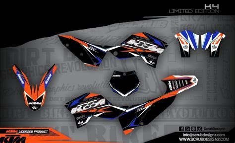 Aufkleber Ktm Sx 65 by Ktm Dekor Sx 65 2009 2015 K4 Le Black Mx Kingz Motocross