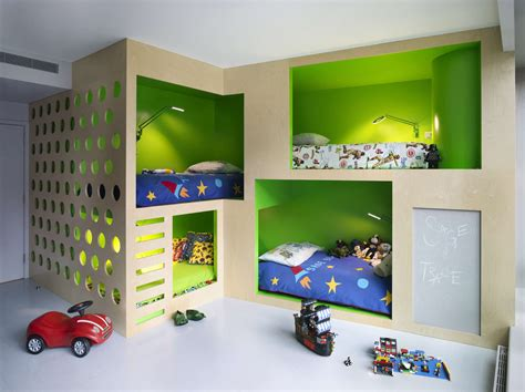 cool bunk beds for boys saving space and staying stylish with triple bunk beds