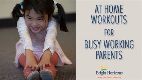 simple at home workouts for busy working parents bright