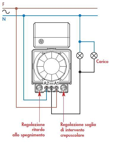 lada con rilevatore di presenza schema di collegamento rilevatore di movimento a infrarossi