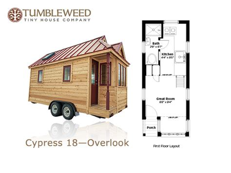 Small House Plans On Wheels Elm 18 Overlook 117 Sq Ft Tumbleweed Tiny Home On Wheels