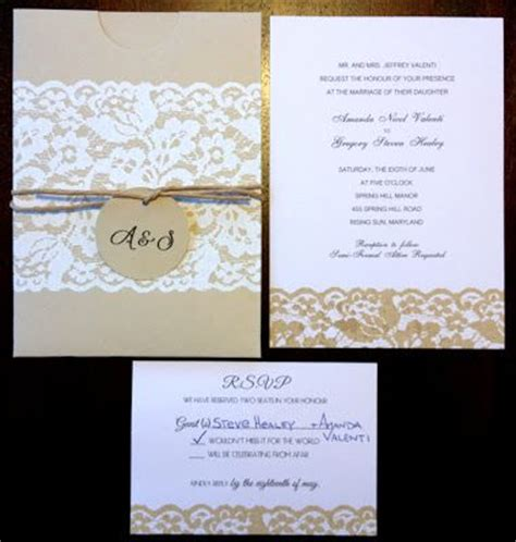 rustic diy wedding invitations tag cheap inexpensive wedding invitations lace country