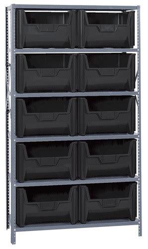 steel shelving  large parts storage bins qsbu