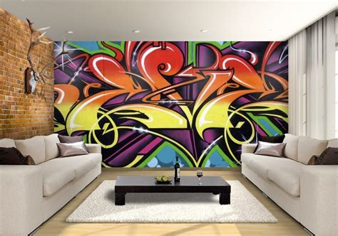 graffiti wallpaper bedroom graffiti wallpaper custom wallpaper mural print by jw