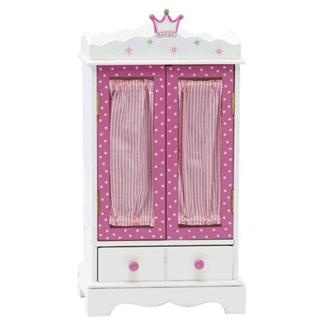 18 inch doll wardrobe armoire 18 inch doll wish crown storage armoire furniture fits 18