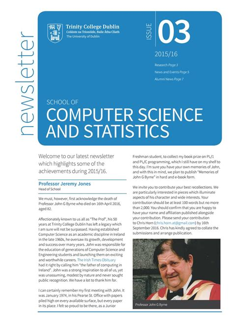 Computer Science And Statistics Majors For Mba scss computer science and statistics newsletter 2015 16 by