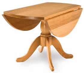 Round drop leaf flamey beech pedestal table