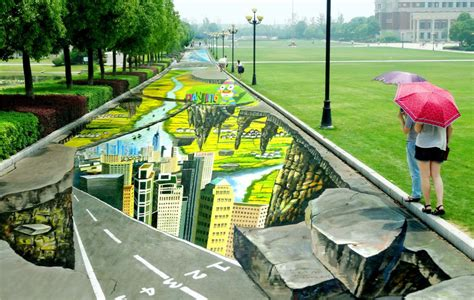 3d street mural breaks the guinness world record video nanjing 3d street painting sets world record 6