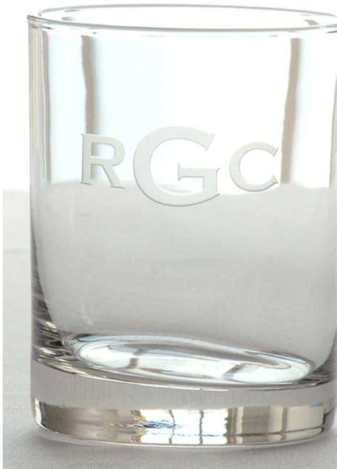 monogrammed barware glasses monogrammed bar glasses
