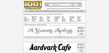 1001 Free Fonts Download » Home Design 2017