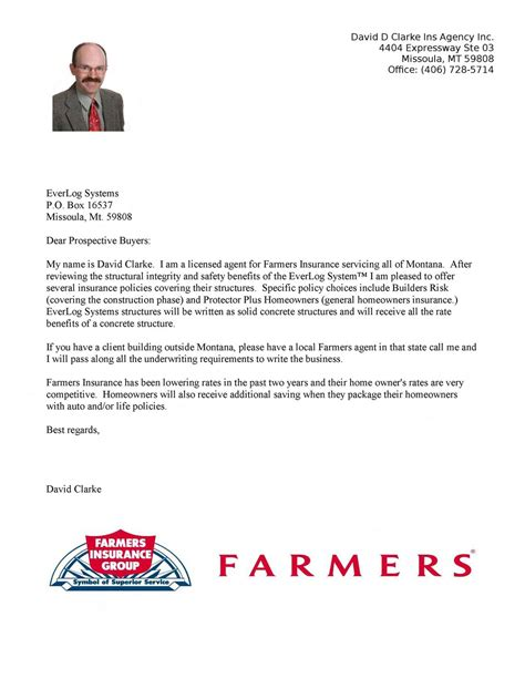 Farmers Insurance Letters farmers insurance review letter of everlogs by everlog systems issuu