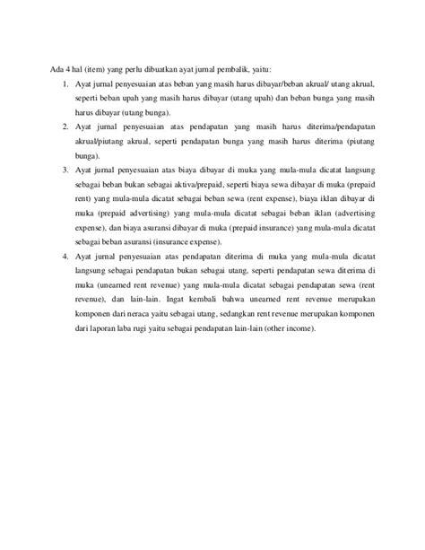 pembuatan ayat jurnal penyesuaian bertujuan agar setiap perkiraan menyusun laporan keuangan