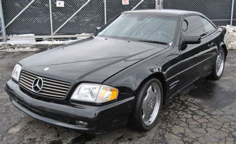 sell used 1997 mercedes benz sl 500 convertible luxury sport car black in roseville michigan