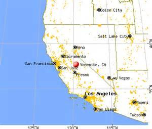 maps california map yosemite