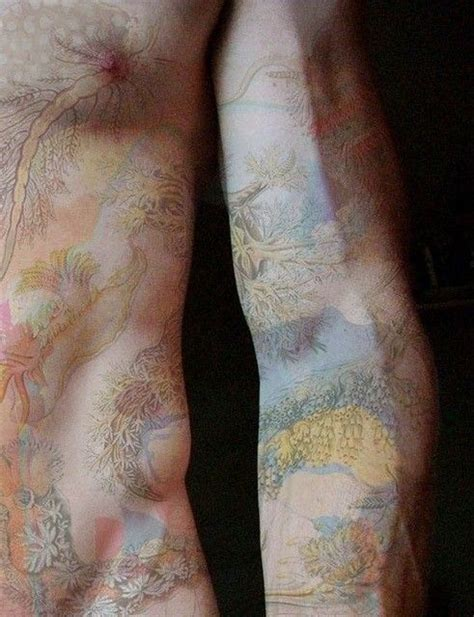 tattoo body color water plants watercolor tattoos full body tattoos pastel