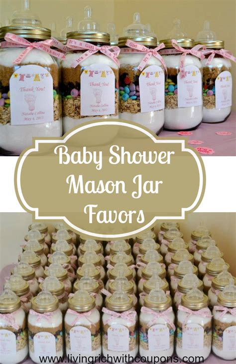 Baby Shower Favors Jars by Cookies Recipe Baby Shower Gift Idea Living
