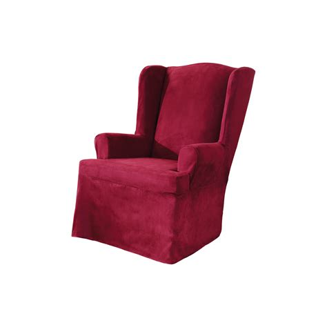 sure fit slipcover chair sure fit soft suede wing chair slipcover reviews