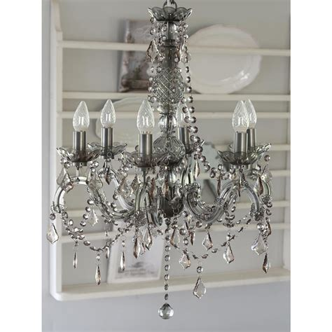 gray chandelier grey chandelier with crystals melody maison 174