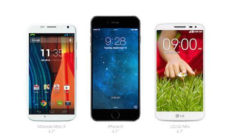 iphone  groessenvergleich mit verschiedenen android