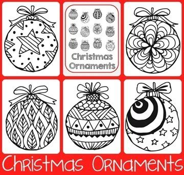 printable ornaments pdf christmas doodle coloring pages 1 1 1 1