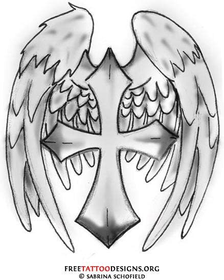 crosses with angel wings tattoos gallery tribal wings and cross
