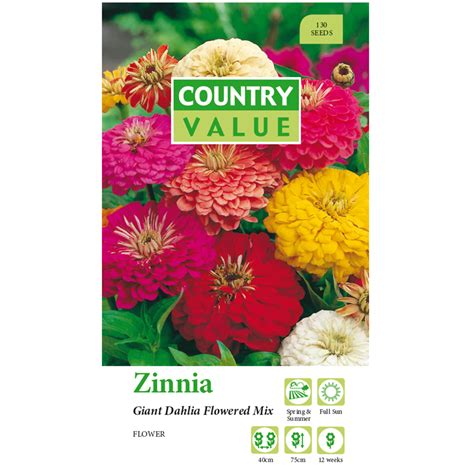 Country Value Marigold Mixed country value zinnia dahlia mix flower seeds i n 2961230 bunnings warehouse