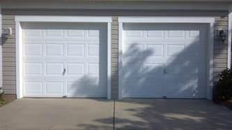 Garage Single Door Two Single Garage Doors Before A Plus Garage Doors