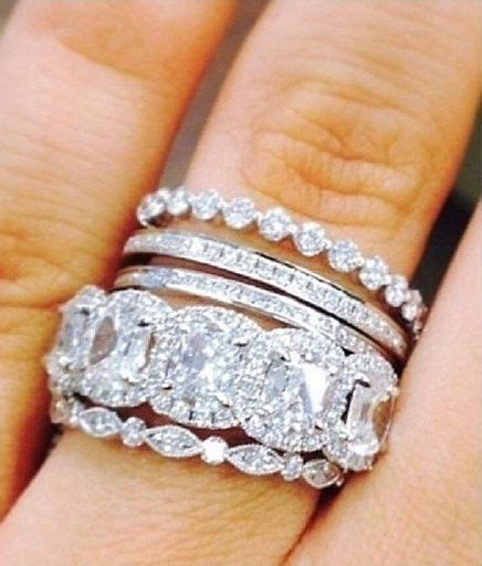 stacked eternity wedding bands 25 best ideas about stacked engagement ring on