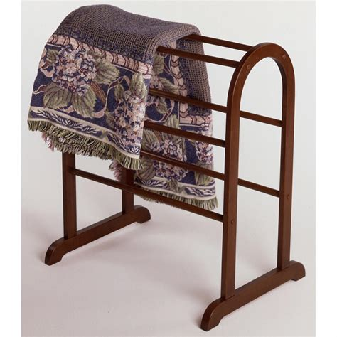 comforter rack winsome 174 wood quilt rack 196917 living room at