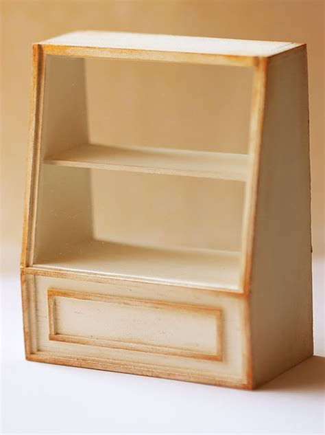 Cake Shelf by Dollhouse Miniature Bakery 1 12th Scale Antique White