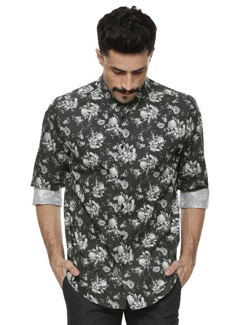 Printed Shirt 2 buy blackberrys floral printed shirt for s black smart shirts in india
