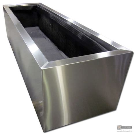 stainless steel planters modern indoor pots