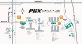 Phoenix Terminal Map by Phoenix Sky Harbor International Airport Maplets