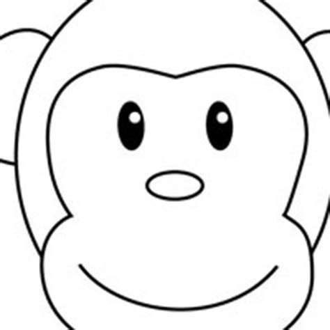 monkey face coloring page clipart best