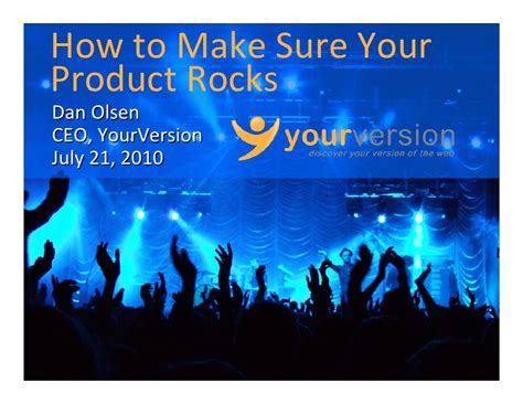 How To Make Sure Your - how to make sure your product rocks