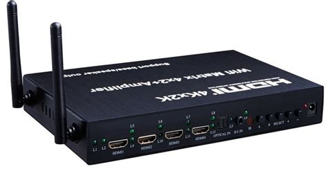Switch On 4 K 4k 4x2 hdmi matrix switch with wifi audio inputs
