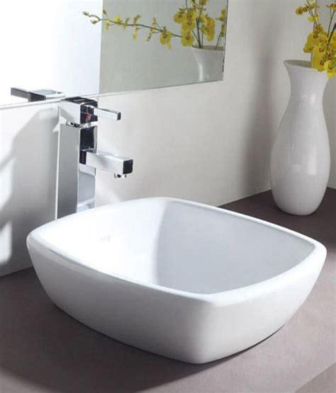 table top wash basin buy hindware table top basin dove 44x44 ivory 10092i
