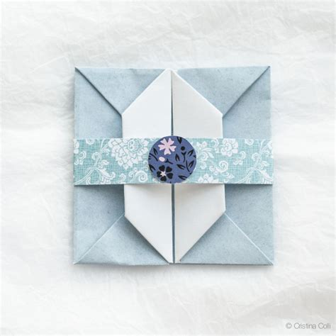 Origami Square Envelope - an origami envelope cristina colli