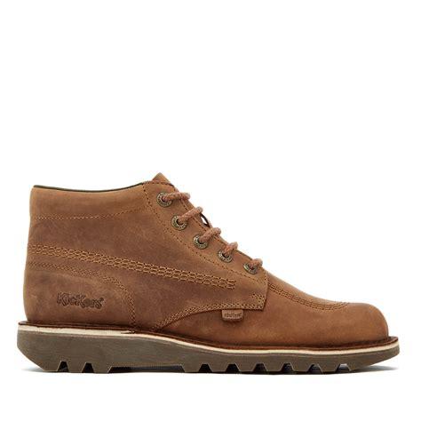 Boots Brown Kickers kickers s kick hi leather boots brown clothing zavvi