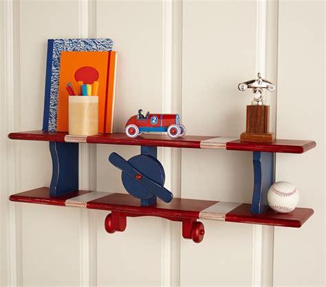 bi plane wall shelf bookcases bookshelves children s airplane shelf pottery barn kids