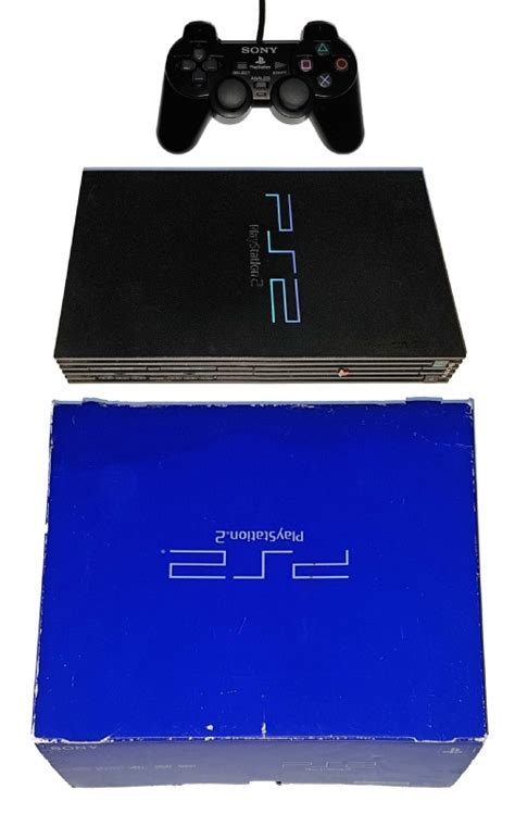 buy ps2 console buy ps2 console 1 controller original black boxed