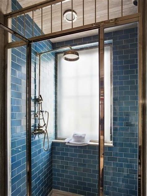 blue subway tile shower steven gambrel shower tile